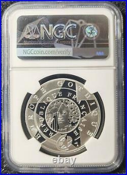NGC PF70 France 2020 Notre Dame Paris Colorized Silver Coin S10E COA