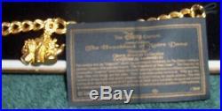 NIC Disney Catalog Ld Ed Hunchback of Notre Dame Gargoyles Charm Bracelet with COA