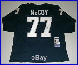 NOTRE DAME Mike McCoy signed custom jersey with #77 JSA COA AUTO Autographed