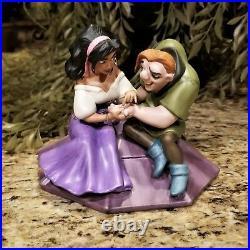 New WDCC Hunchback of Notre Dame Quasimodo & Esmeralda Figurine Box & COA