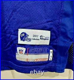 New York Giants Luke Petitgout #77 Game Jersey Notre Dame Meigray Coa / Loa