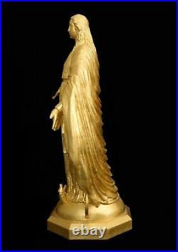 Notre Dame 15 Our Mother Sculpture Bronze 23.75 KT Gold Leaf COA Artist Proof