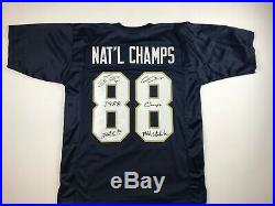 Notre Dame 1988 National Champs Football Autographed Jersey with COA
