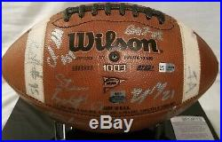 Notre Dame 2010 Autographed (GAME USED) Football With 100 Years Book & COA