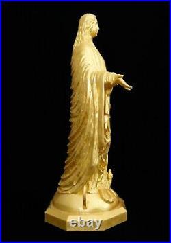 Notre Dame 42 Our Mother Sculpture 23.75 KT Gold Leaf COA Artist Proof Go Irish