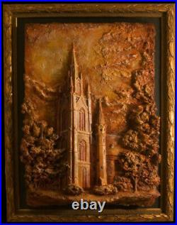 Notre Dame Art Our Mother Golden Dome Giclée Print Framed Signed COA GO IRISH