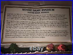 Notre Dame Danbury Mint Stadium Replica The House That Rockne Built Foam & COA