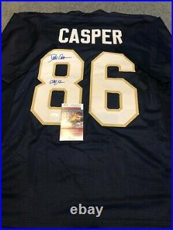 Notre Dame Dave Casper Autographed Signed Inscribed Jersey Jsa Coa