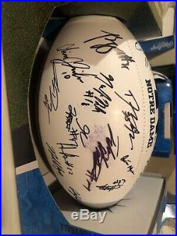 Notre Dame Fighting Irish Team Signed 2019 Football WithCoa Autographed