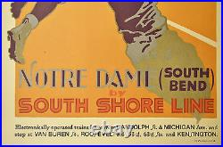 Notre Dame Football South Shore Line Poster Hand Pulled Lithograph Brenneman COA