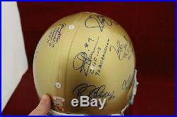 Notre Dame Greats Signed Auto F/S ProLine Helmet Montana + 12 Auto's TRISTAR COA