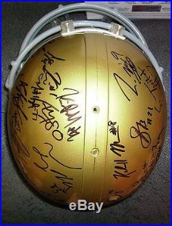 Notre Dame Irish 2012-13 Team Signed F/s Helmet Psa/dna Coa Tyler Eifert