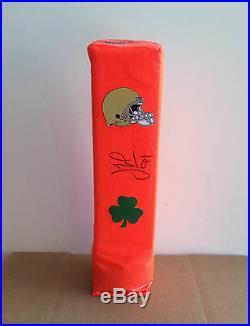 Notre Dame Irish #44 JUSTIN TUCK Signed Autographed Football Pylon COA! PROOF