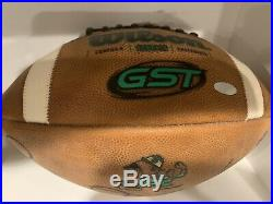 Notre Dame Irish Steiner COA Rocket Ismail Signed Authentic Game Football $400