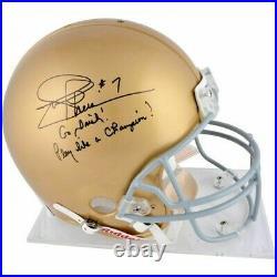 Notre Dame Joe Theismann Autographed Riddell Pro-line Helmet Fanatics Coa