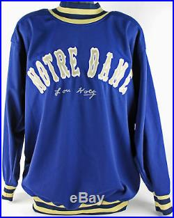 Notre Dame Lou Holtz Authentic Signed Pullover Coaching Jacket Steiner Holo/COA