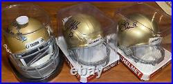 Notre Dame Signed Mini Helmet Bundle! Tim Brown Golden Tate Ross Browner With COAs