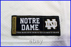 Nyles Morgan Signed Notre Dame Football Jersey Under Armour withCOA C