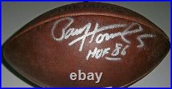 PACKERS Paul Hornung signed DUKE football with HOF 86 JSA COA AUTO Autographed