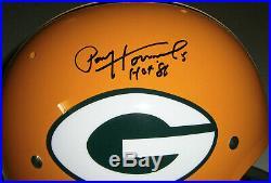 PACKERS Paul Hornung signed TK F/S STAT helmet with 5 HOF86 JSA COA AUTO Autograph