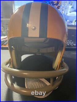 PACKERS Paul Hornung signed TK F/S STAT helmet with 5 HOF86 JSA COA Sticker AUTO