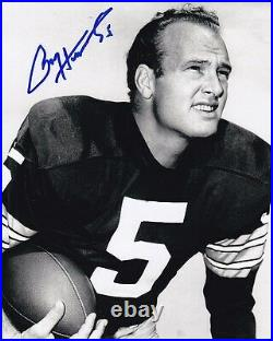 PAUL HORNUNG Signed NFL GREEN BAY PACKERS Photo with Hologram COA NOTRE DAME