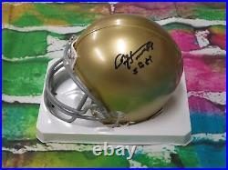 Paul Hornung Notre Dame Irish GB Packers Signed Mini Helmet LOM COA (HM206)