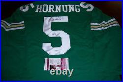 Paul Hornung Notre Dame Jsa/coa Signed Green Jersey
