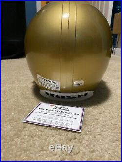Paul Hornung Signed Full Sized F/S Helmet Fanatics Numbered Holo COA Notre Dame
