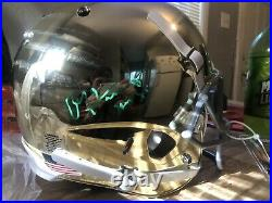 Paul Hornung Signed Notre Dame Chrome Full Size Replica Helmet Radtke Coa