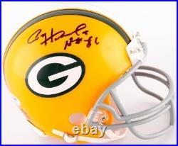 Paul Hornung Signed Packers Mini-Helmet Inscribed HOF 86 (PSA COA) Notre Dame