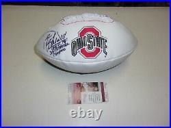 Paul Warfield Ohio State Buckeyes 1961 National Champs Jsa/coa Signed Football
