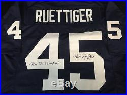 RUDY RUETTIGER AUTOGRAPHED NOTRE DAME JERSEY WithCOA PLAY LIKE A CHAMPION INSCR