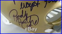 RUDY RUETTIGER NOTRE DAME SIGNED RIDDELL REP HELMET withFULL MOVIE QUOTE withJSA COA