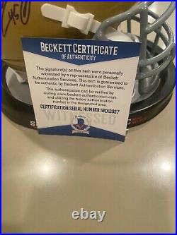 RUDY RUETTIGER NOTRE DAME signed mini Helmet With PLAY Beckett COA AUTOGRAPH