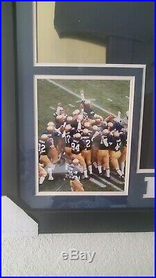 RUDY RUETTIGER (Notre Dame Irish) Signed Autographed Framed Jersey with JSA COA