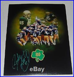 RUDY RUETTIGER signed NOTRE DAME FIGHTING IRISH 11X14 photo WithCOA AUTOGRAPHED