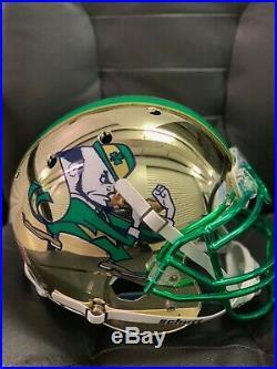Raghib Ismail Tim Brown Notre Dame Chrome Helmet with Inscriptions. Beckett COA