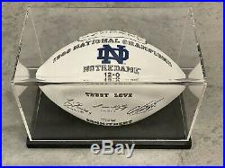 Rare Notre Dame Football Limited Edition Signed 1988 National Champions with COA