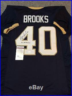 Reggie Brooks Autographed Signed Incscribed Notre Dame Jersey Jsa Coa