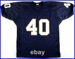 Reggie Brooks Signed Notre Dame Jersey Inscribed 92 All-American (JSA COA)