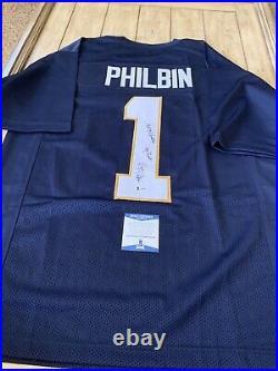Regis Philbin Autographed/Signed Jersey Beckett COA Notre Dame Fighting Irish