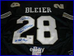 Rocky Bleier Notre Dame Fighting Irish Blue Jsa/coa Signed Jersey