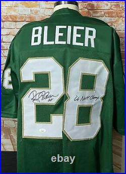 Rocky Bleier Signed Notre Dame Fighting Irish Jersey JSA COA