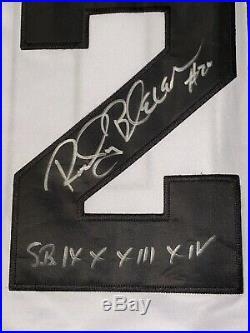 Rocky Bleier Steelers, 4x Sb Champs, Notre Dame! Jsa/coa Signed Jersey Rare