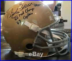 Rocky Bleier signed Notre Dame F/S Schutt Rep Helmet with 2 Inscr. COA with Photo