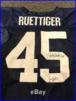 Rudy Ruetigger & Sean Astin Signed Notre Dame Jersey Jsa/coa