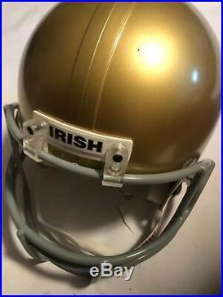 Rudy Ruettiger Autographed Full Size Notre Dame Helmet INSCRIPTION Beckett COA