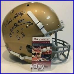 Rudy Ruettiger Autographed Signed Inscribed Notre Dame Full Size Helmet Jsa Coa