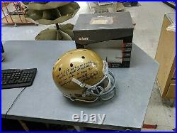 Rudy Ruettiger Autographed Signed Notre Dame Full Size Helmet Jsa Coa